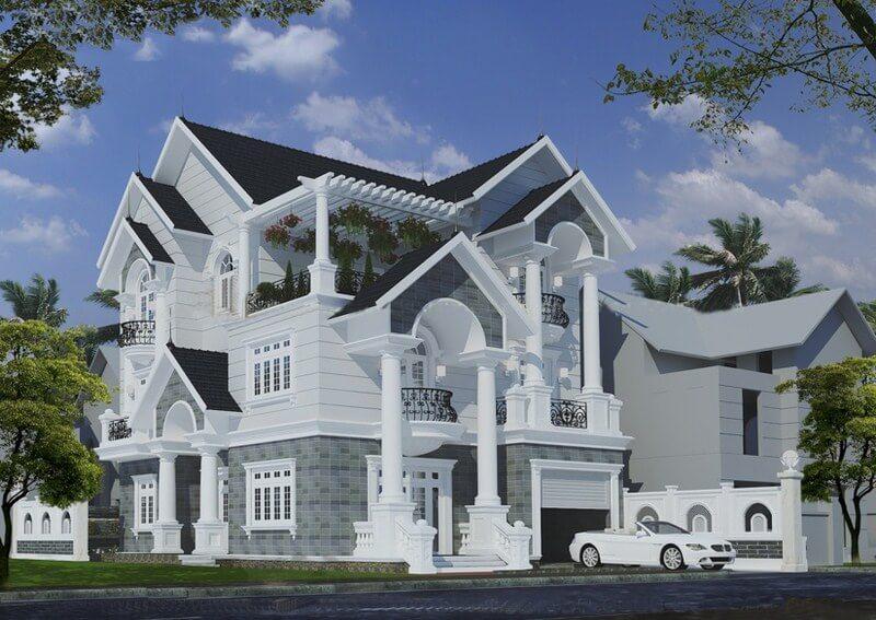 Ngắm biệt thự mini kiểu pháp 3 tầng cực đẹp - 4